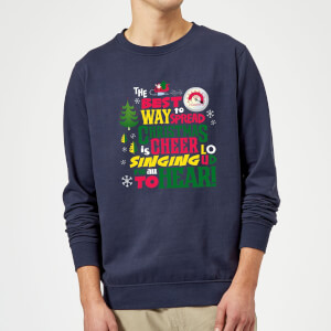 Felpa Elf Christmas Cheer Christmas - Navy