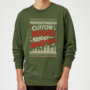 Felpa Elf Cotton-Headed-Ninny-Muggins Knit Christmas - Forest Green