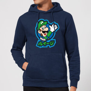 Nintendo Super Mario Luigi Kanji Hoodie - Navy