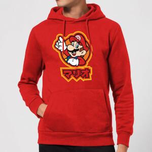 Nintendo Super Mario Mario Kanji Hoodie - Red
