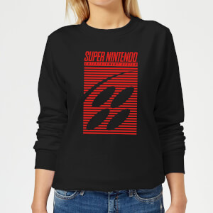 Nintendo Retro Logo Women's Sweatshirt - Black