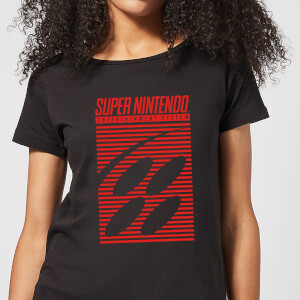 T-Shirt Nintendo Retro Logo - Nero - Donna