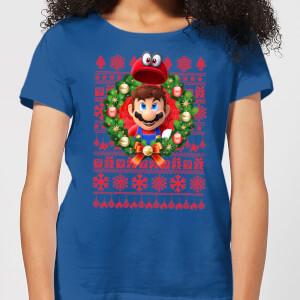 Nintendo Super Mario Mario and Cappy Women's T-Shirt - Royal Blue