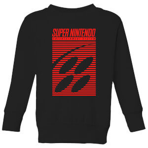 Nintendo Retro Logo Kids' Sweatshirt - Black