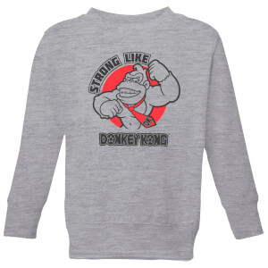 Donkey Kong Strong Like Donkey Kong Kids' Sweatshirt - Grey