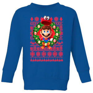 Super Mario Mario And Cappy Kids' Sweatshirt - Royal Blue