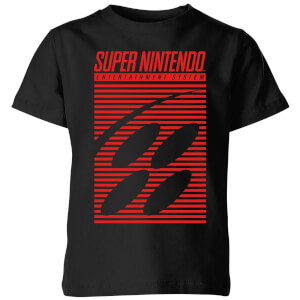 Nintendo Retro Logo Kid's T-Shirt - Black