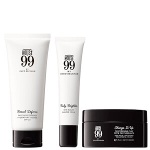 House 99 Broad Defense Moisturiser, Styling Clay and Eye Balm Bundle