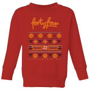 How Ridiculous Forty Four Knit Kids' Christmas Sweatshirt - Red