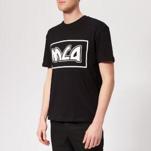McQ Alexander McQueen Men's Dropped Shoulder McQ Logo T-Shirt - Darkest Black
