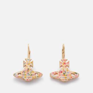 Vivienne Westwood Women's Celeste Bas Relief Drop Earrings - White/Multi Resin/Gold