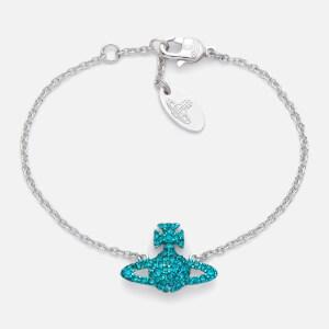 Vivienne Westwood Women's Grace Bas Relief Bracelet - Blue Zircon / Rhodium