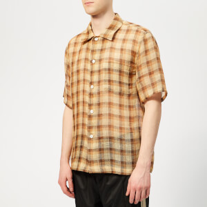 Our Legacy Men's Box Shirt - Raw Net Brown Yellow Check