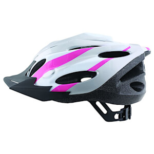 ETC Zephyr Dial Fit Adult Cycling Helmet - Silver/White/Pink