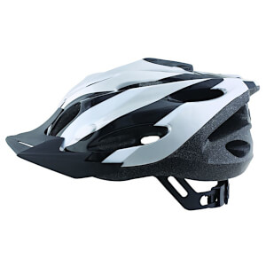 ETC Zephyr Dial Fit Adult Cycling Helmet - Silver/Black