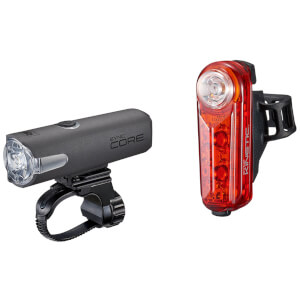 Cateye Sync Core Front and Sync Kinetic Rear LED USB Rechargeable Light Set