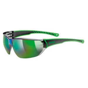 Uvex 2016 Sportstyle 204 Glasses - Black/Green