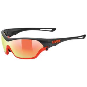 Uvex Sportstyle 705 Glasses - Black Matte/Orange