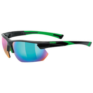 Uvex Sportstyle 221 Glasses - Black/Green