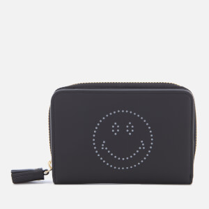 Anya Hindmarch Women's Smiley Face Compact Wallet - Black