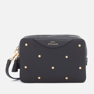 Anya Hindmarch Women's Stud Double Zip Cross Body Bag - Black