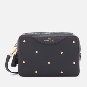 Anya Hindmarch Women's Stud Double Zip Cross Body Bag - Black