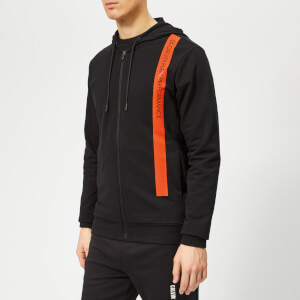 Calvin Klein Performance Men's Full Zip Hoody - CK Black/Cherry Tomato