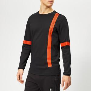 Calvin Klein Performance Men's Long Sleeve T-Shirt - CK Black/Cherry Tomato