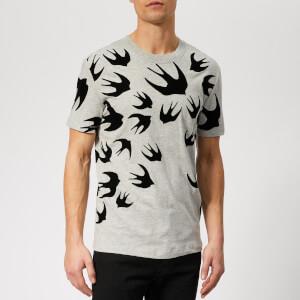McQ Alexander McQueen Men's Swallow Swarm T-Shirt - Mercury Melange