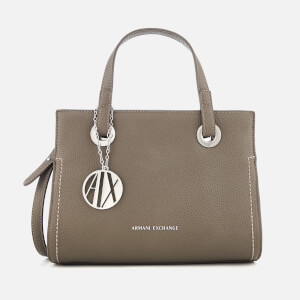 Armani Exchange Women's Small Shopper with Cross Body Bag - Taupe