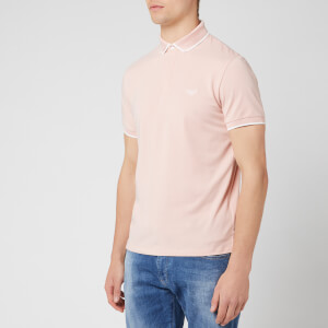 Emporio Armani Men's Tipped Cotton Polo Shirt - Rosa