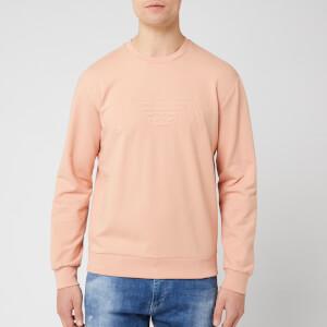 Emporio Armani Men's Eagle Chest Logo Sweatshirt - Rosa Ambrato