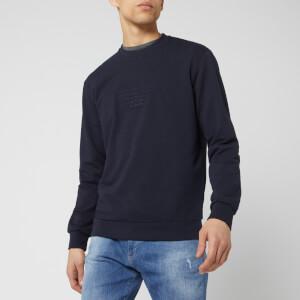 Emporio Armani Men's Eagle Chest Logo Sweatshirt - Blue Navy