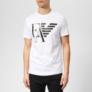 Emporio Armani Men's Ea and Eagle Logo T-Shirt - Bianco Ottico