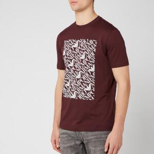 Emporio Armani Men's Box Logo T-Shirt - Rosso Sangue