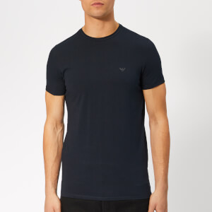 Emporio Armani Men's Small Chest Logo T-Shirt - Blue Scuro