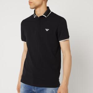 Emporio Armani Men's Tipped Cotton Polo Shirt - Nero