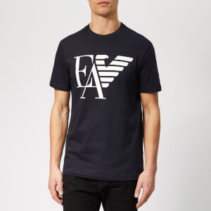 Emporio Armani Men's EA and Eagle Logo T-Shirt - Blue Navy