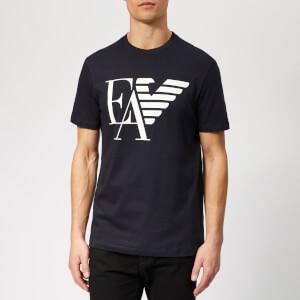 Emporio Armani Men's EA and Eagle Logo T-Shirt - Blue Navy