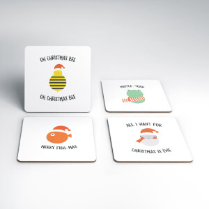 Christmas Animals Coaster Set