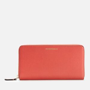 Emporio Armani Women's Wallet Zip A - Salmone/Pietra