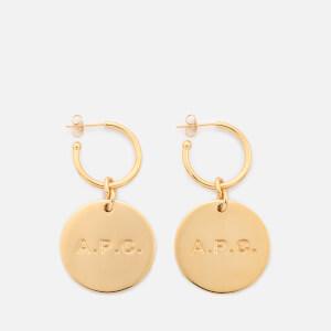 A.P.C. Women's Anna Earrings - Gold