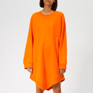 MM6 Maison Margiela Women's Angle Sweatshirt Dress - Orange