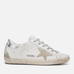 Golden Goose Deluxe Brand Women's Superstar Trainers - White Silver Metal Lettering
