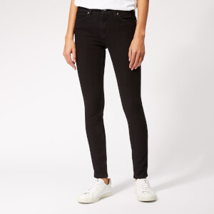 Victoria, Victoria Beckham Women's Mid Rise Skinny Jeans - Black