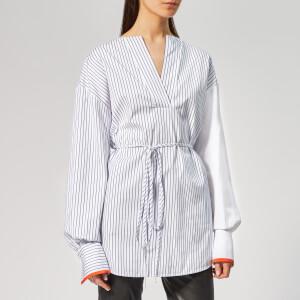 Victoria, Victoria Beckham Women's Front Tie Shirt - White/Midnight