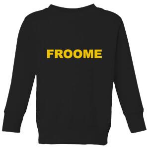 Summit Finish Froome - Rider Name Kids' Sweatshirt - Black