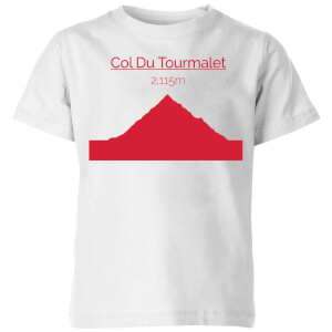 Summit Finish Col du Tourmalet Kids' T-Shirt - White
