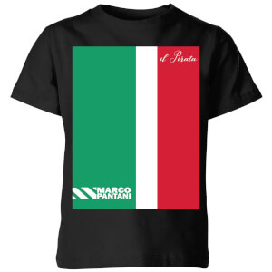 Summit Finish Pantani Il Pirata Kids' T-Shirt - Black