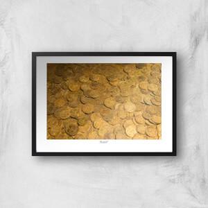 Thunderbolt Photography Gold Coins Art Print